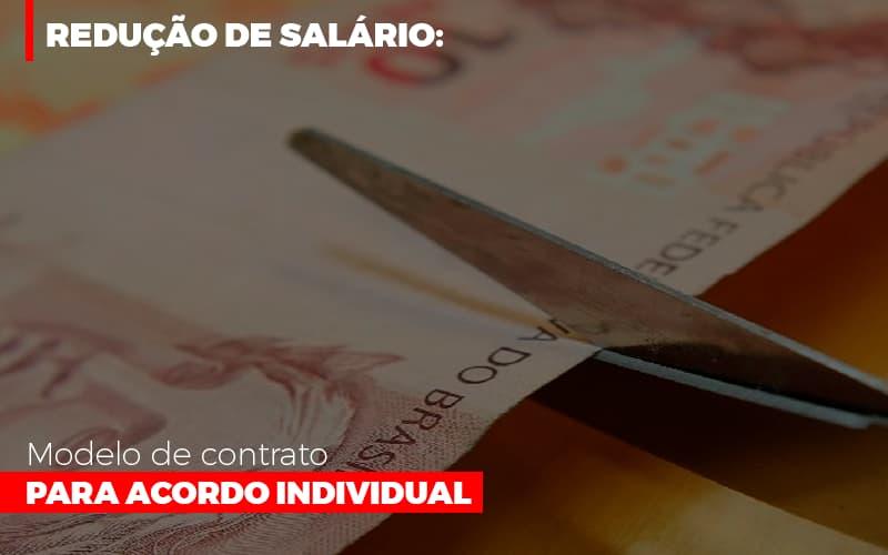 Reducao De Salario Modelo De Contrato Para Acordo Individual - Escritório Triângulo